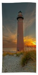 Beach Towel featuring the photograph Sunset At Petite Pointe Au Sable by Susan Rissi Tregoning