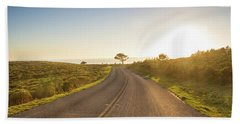 Sunset At Point Reyes Beach Towel