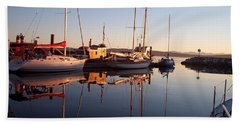 Sunset At Powell River Beach Towel