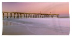 Beach Towel featuring the photograph Sunset At Rodanthe Fishing Pier In Obx Panorama by Ranjay Mitra