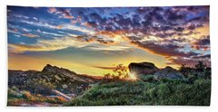 Sunset At Sage Ranch Beach Towel