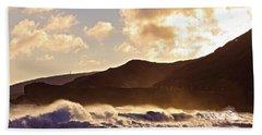 Sunset At Sandy Beach Beach Towel