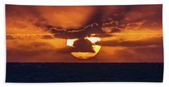 Beach Towel featuring the photograph Sunset At Sea by John Haldane