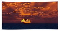 Beach Towel featuring the photograph Sunset At Sea Part Two by John Haldane