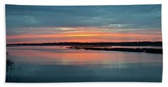 Sunset At Shelter Cove Beach Sheet by Carol Bradley