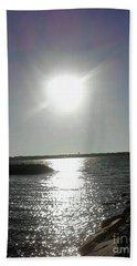 Sunset At Solomons Island Md Beach Sheet