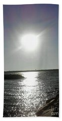Sunset At Solomons Island Md Beach Towel
