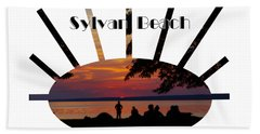 Sunset At Sylvan Beach - T-shirt Beach Towel