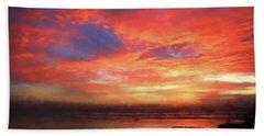 Sunset At The Beach Beach Sheet