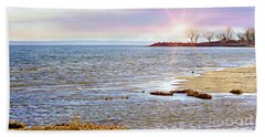 Sunset At The Beach - Tod's Point Beach Towel