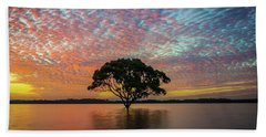 Beach Towel featuring the photograph Sunset At The Brighton Tree by Keiran Lusk
