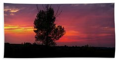 Sunset At The Danube Banks Beach Towel