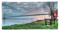 Sunset At The Humber Bridge Beach Towel
