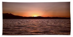 Sunset At The Lake 2 Beach Sheet