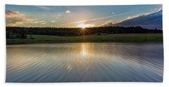 Sunset At The Mandelholz Dam, Harz Beach Towel