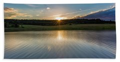 Sunset At The Mandelholz Dam, Harz Beach Towel