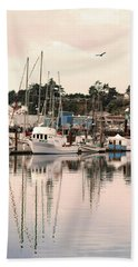 Sunset At The Marina Beach Towel by Diane Schuster