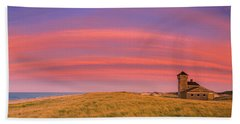 Sunset At The Old Harbor Us Life Saving Station At Race Point, P Beach Towel