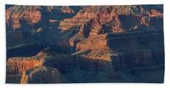 Sunset At The South Rim, Grand Canyon Beach Towel