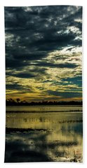 Sunset At The Wetlands Beach Towel