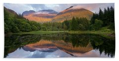 Sunset At Torren Lochan Beach Towel