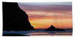 Sunset At Whalehead Beach Beach Towel