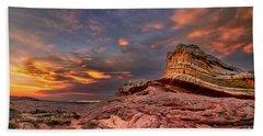 Sunset At White Pocket Beach Towel