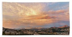 Sunset At Yosemite Beach Towel
