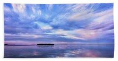 Sunset Awe  Signed Beach Sheet
