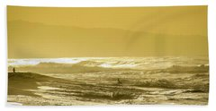 Sunset Beach Aglow  Beach Towel