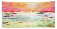 Sunset Beach Beach Sheet by Jeremy Aiyadurai