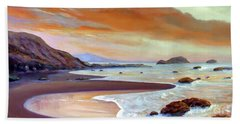 Sunset Beach Beach Towel by Michael Rock