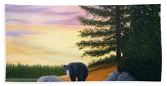 Sunset Bear Beach Towel