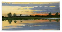 Sunset Ben Jack Pond Beach Towel
