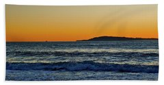 Sunset Bird Reflections Beach Towel