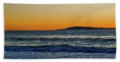 Sunset Bird Reflections Beach Sheet