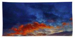 Sunset Burst Beach Towel by Mark Blauhoefer