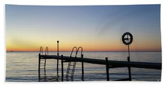 Sunset By The Old Bath Pier Beach Towel