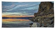 Sunset Cave Rock 2015 Beach Towel