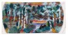 Sunset Beach Towel by Christine Lathrop