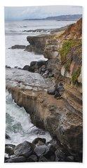 Beach Towel featuring the photograph Sunset Cliffs San Diego Portrait by Kyle Hanson