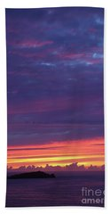 Sunset Clouds In Newquay, Uk Beach Towel by Nicholas Burningham