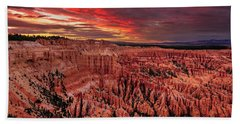 Sunset Clouds Over Bryce Canyon Beach Towel