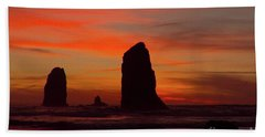 Sunset Coast Beach Towel