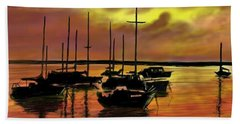Beach Towel featuring the digital art Sunset by Darren Cannell
