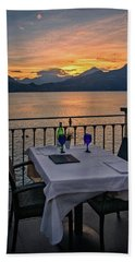 Sunset Dining Beach Towel