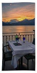 Sunset Dining Beach Sheet