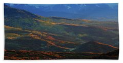 Sunset During Autumn Below The San Juan Mountains In Colorado Beach Sheet