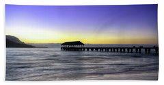 Sunset Fisherman Beach Towel