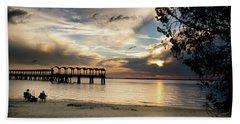 Sunset Fishing Beach Towel